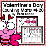Valentine's Day Themed Counting (Playdough) Mats: #1-20