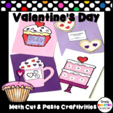 Valentine's Day Themed Cut and Paste Math Crafts