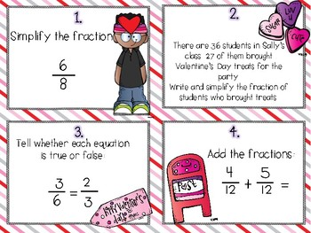 Valentine's Day Themed FRACTION Review