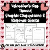Valentine's Day Themed Graphic Organizers & Literacy Center Recording Sheets