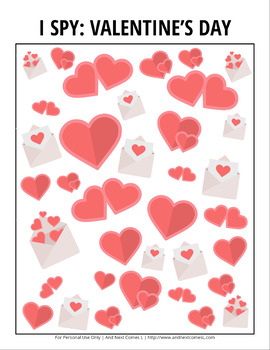 Valentine's Day Themed I Spy Games Pack