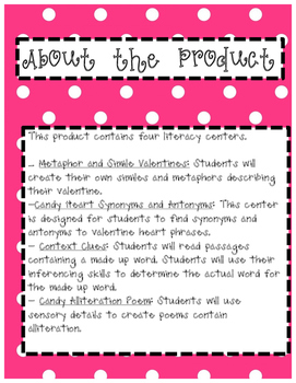 Valentine's Day Themed Literacy Center Bundle