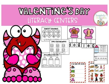 Valentine's Day Themed Literacy Centers