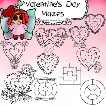 Valentine's Day Themed Mazes