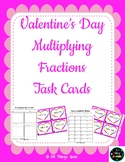 Valentine's Day Themed Multiplying Fractions Task Cards