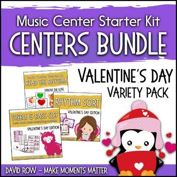 Valentine's Day Themed Music Center Starter Kit - Variety Pack Bundle