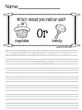 Valentine's Day Themed Opinion Writing {Freebie}