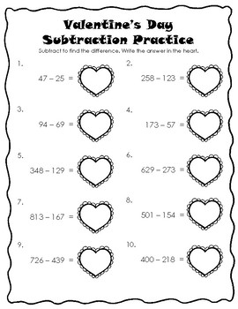 Valentine's Day Themed Packet: Fun Activities, Math Practice, and Writing Sheets