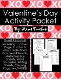Valentine's Day Themed Packet: Fun Activities, Math Practi