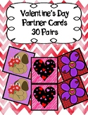 Valentine's Day Themed Partner Cards- 30 Pairs