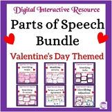 Valentine's Day Themed Parts of Speech Digital Task Cards: