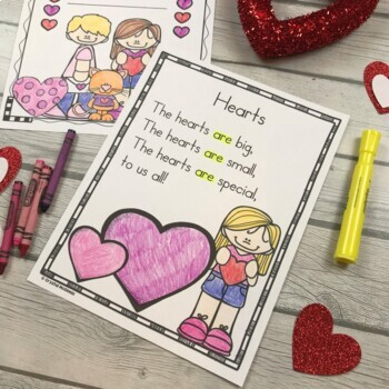 Valentine's Day Themed Poems for Shared Reading (for Beginning Readers)