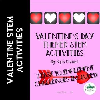 Valentine's Day Themed STEM Challenges