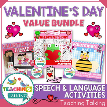 Valentine's Day Speech Therapy Activities Value Bundle