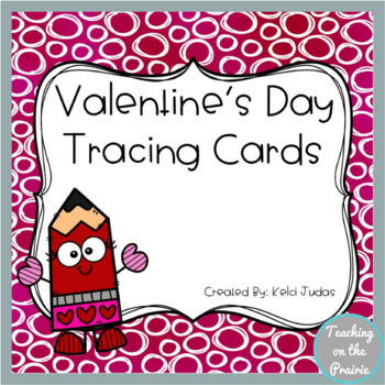 Valentine's Day Themed Tracing Task Cards