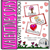 Valentine's Day Themed Write the Room: A Language Arts Activity