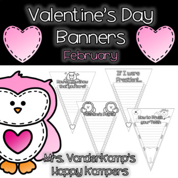 Valentine's Day Themed Writing Banners [[February]]