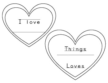 "Valentine's Day ""Things I Love"" hanging craftivity"