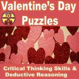 Valentine's Day Puzzles Using Thinking Skills and Deductiv