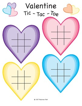 Valentine's Day Tic Tac Toe Board