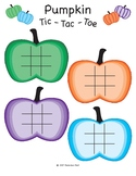 Pumpkin Tic Tac Toe Board