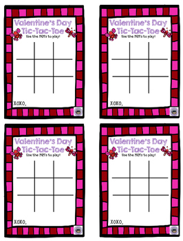 Valentine's Day Tic Tac Toe Cards Freebie