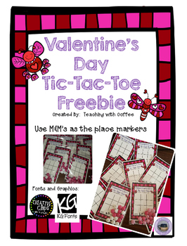 Valentine's Day Tic Tac Toe Cards Freebie