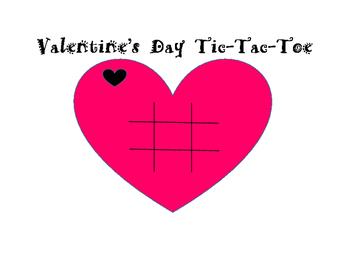 Valentine's Day Tic-Tac-Toe Game Board