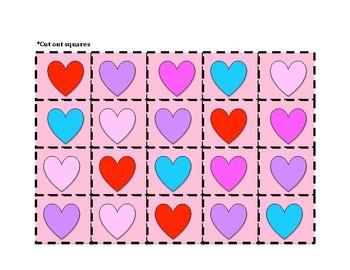Valentine's Day Tic Tac Toe and Bingo