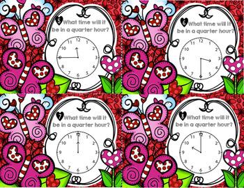 Valentine's Day Time Task Cards