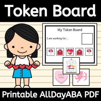 Valentine's Day Token Board and Tokens - ABA Therapy, Behavior Management