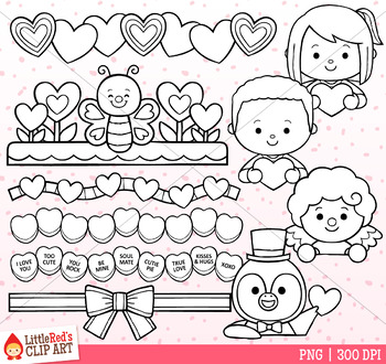Valentine's Day Toppers Clip Art