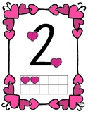 Valentine's Day Touch Math Posters