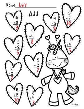 Valentine's Day Touch Math Practice