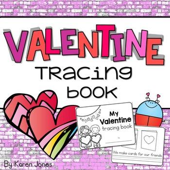 Valentine's Day Tracing Book