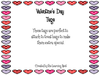Valentine's Day Treat Bag Tags