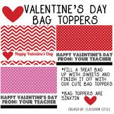 Valentine's Day Treat Bag Topper