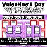 Valentine's Day Treat Cards: From Your Teacher!
