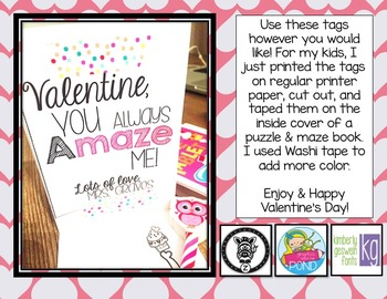 Valentine's Day Treat Tags