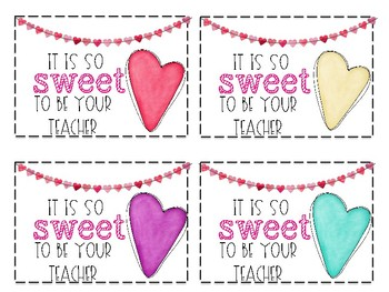 Valentine's Day Treat Tags-Freebie!