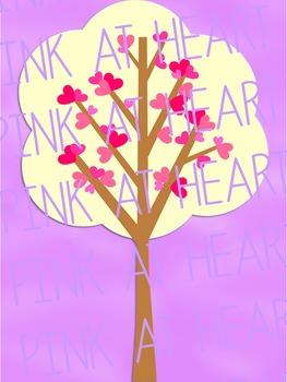 Valentine's Day Trees Clip Art
