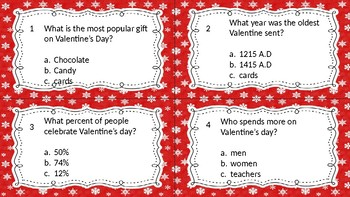 Valentine's Day Trivia Game Questions