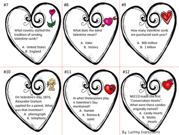 Free Download - Valentine's Day Trivia Task Cards