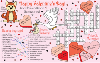 Valentine's Day Two-Page Activity Set