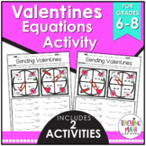 Valentine's Day Two-Step Equation Activity