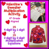 Valentine's Ugly Sweater Multiplication and EDITABLE VERSION