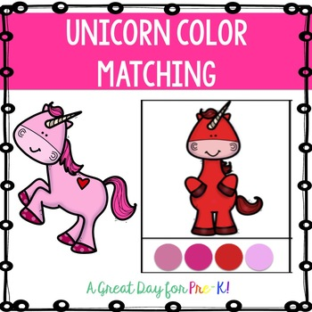 Unicorn Color Matching Cards FREEBIE