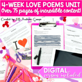 Poetry Activities for Middle School: FOUR FULL WEEKS