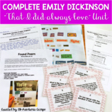 Emily Dickinson Poetry Analysis Activity DIGITAL and PRINT