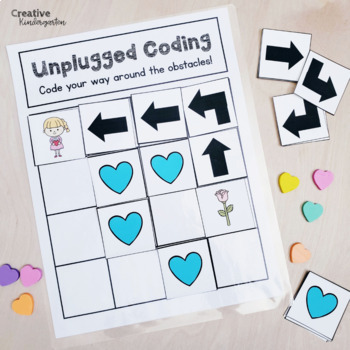 Valentine's Day Unplugged Coding Activity for Beginners